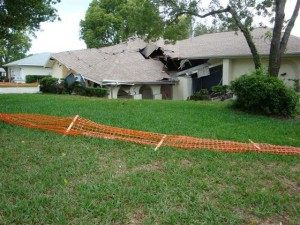 Sinkhole home collapse